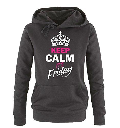 Shirts Shirts Donna sweater Nero Nero Nero IT´S S Bianco KEEP colori vari cappuccio CALM Hoodie FRIDAY XL fucsia Comedy taglia UCwAqBC