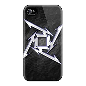 Fashionable Style Cases Covers Skin For Apple Iphone 5/5S Case Cover - Metallica Star