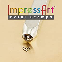 ImpressArt Design Stamps, 3mm, Whimsy Heart, 1-Pack