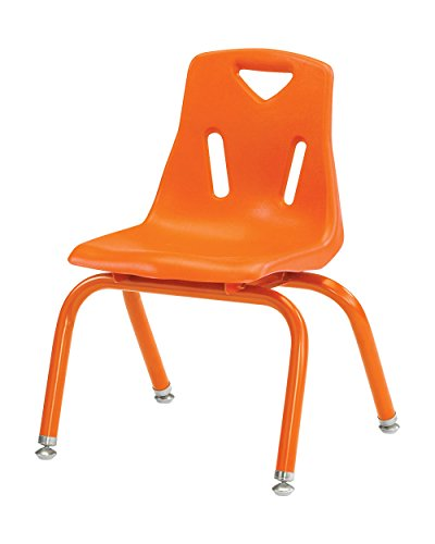 Berries Stacking Chairs with Powder-Coated Legs - Set of 6 Orange/10