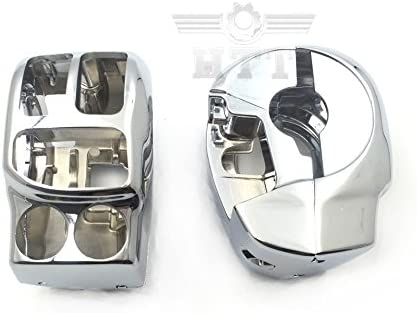 HTTMT MT265-011-CD Chrome Switch Housing Cover Kit Compatible with 2014-later Harley Touring and Trike with OEM hydraulic clutch Aftermarket OEM #71500185 CVO Road King FLHRSE6