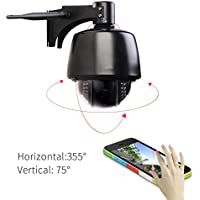 Kishgo PTZ(5x Optical Zoom) 960P Outdoor Wireless IP Security Camera(1.3Megapixel),IP66 Weatherproof, Night Vision - Black