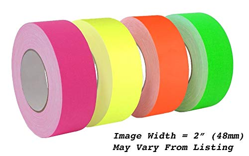 (MAT Gaffer Tape Fluorescent Green Low Gloss Finish Film - 2 in. x 60 Yards - Residue Free, Non Reflective, Better Than Duct Tape (Available in Multiple Colors))