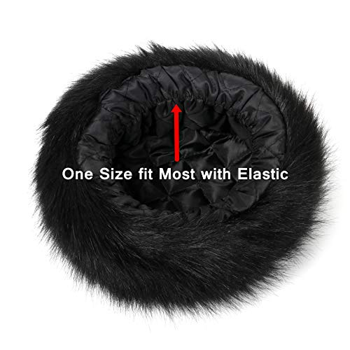 Soul Young Women s Leopard Faux Fur Hat with Fleece and Elastic for Winter 788efbf5ac69