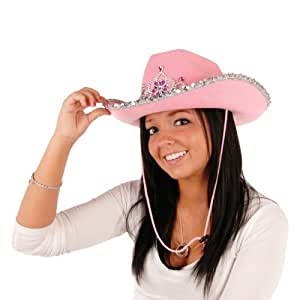 Beistle 60257 Light-Up Rhinestone Cowgirl Hat, 6 Hats Per Package