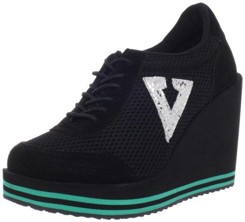 Volatile Kicks Women's Rappin Fashion Sneaker,Black,8 B US
