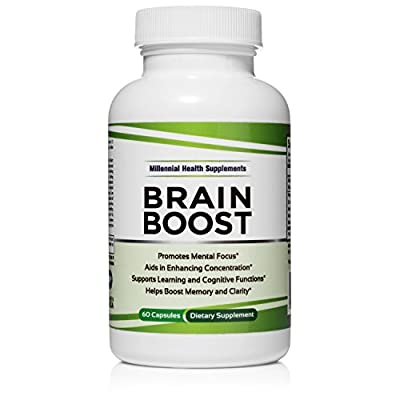 Brain Boost - NEW Scientific Formula for Increasing Memory, Concentration and Mood while Reducing Stress and Anxiety, with Ginkgo Biloba and St. John's Wort by Millennial Health Supplements