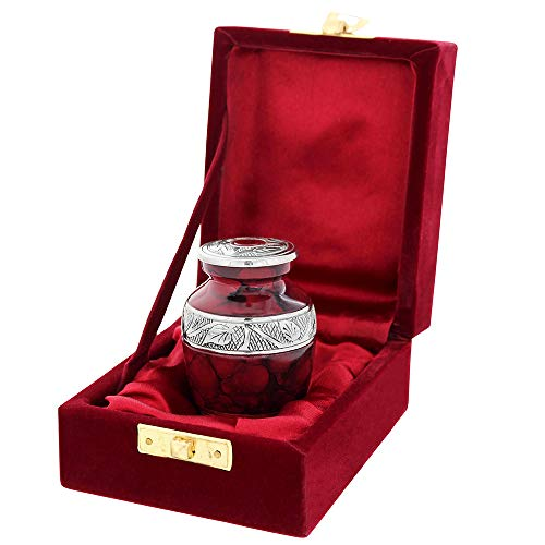 - Celebration of Life Mini Cremation Keepsake Urn for Human Ashes - Qnty 1 - Beautiful and Timeless Find Comfort Everytime You Look at This Urn - with Velvet Case