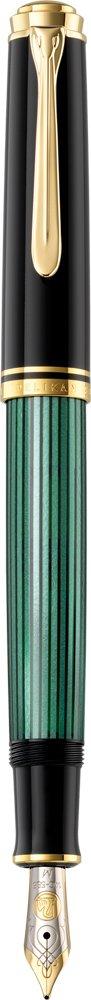 Pelikan Souveran M600 Black/Green GT Medium Point Fountain Pen - 9800
