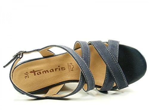 Tamaris 1-28343-28 Kvinders Sandaler Blå QsMfCPTGX
