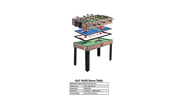 JCCOZ-URG Deluxe Mesa 4en1 Multi Mesa de Juego de Billar/Ping-Pong/Hockey/fútbol for niños/Adultos/Classic Familia descompresión Casual Juegos de Salón URG: Amazon.es: Hogar