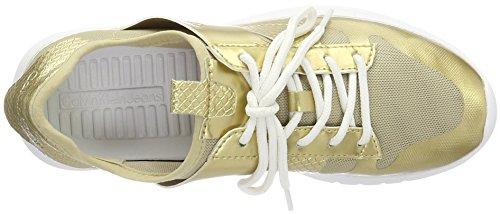 Calvin Klein Jeans Dame Iden Finmasket / Trykt Slange Sneaker Guld (gld) aOzFcJJWlO