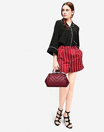 Sac Femme Main Mode Nouveau Besace Portés À Tisdaini Vin Rouge Épaule qUgxAwn