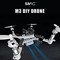 Nacome New Assemble RC Drone,DIY Altitude Hold HD Camera Wifi 0.3MP Camera Building Block RC Quadcopter