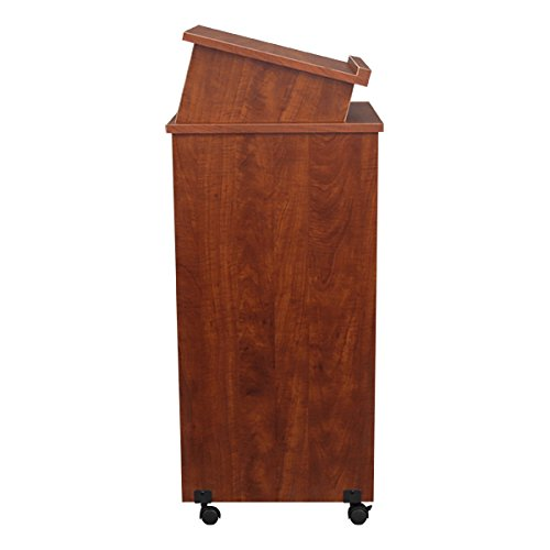 Norwood Commercial Furniture Mobile Lectern, Cherry, NOR-TIR1034-SO by Norwood Commercial Furniture (Image #2)