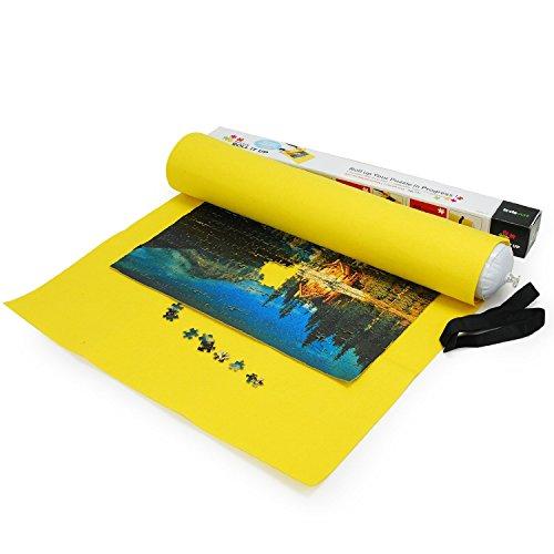 Lavievert Yellow Felt Mat for Puzzle Storage, Puzzles Saver,