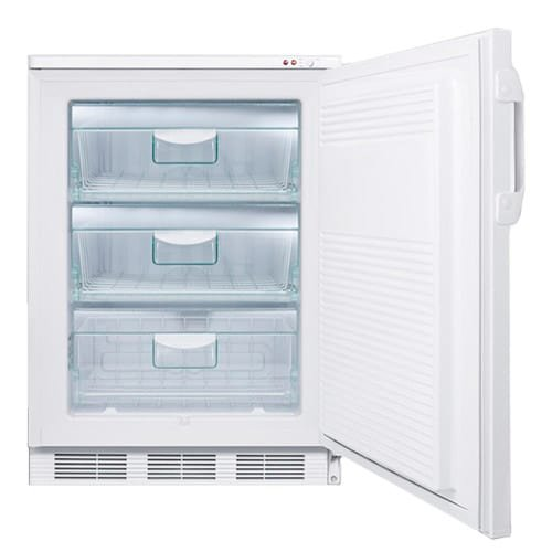 Summit VT65ML7 24'' Commercially Approved Upright Freezer with 3.5 cu. ft. Capacity Factory Installed Lock Three Removable Storage Baskets and Adjustable Thermostat in by Summit
