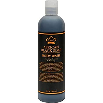 Nubian Heritage Body Wash, African Black Soap, 13 Fluid Ounce