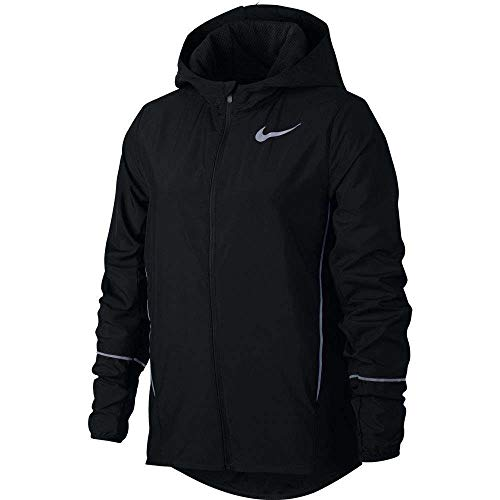 (NIKE Older Kids' (Girls') Running Jacket (Black, XS))