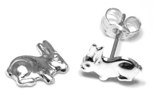 Parure boucles d'oreilles et queue de lapin pour enfant Argent Sterling boucles d'oreilles-boucles d'oreilles pour enfants