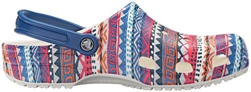 Adulte Classic Mixte Crocs white Blue Sabots Jean Clog Graphic x7wCdBqX