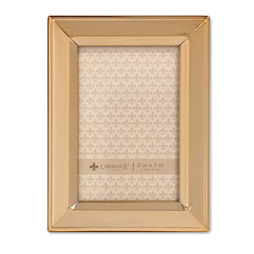 - Lawrence Frames 2x3 Gold Metal Classic Bevel Picture Frame,