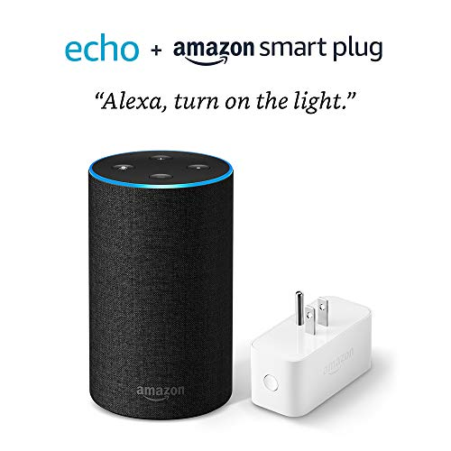Echo (2nd Generation) with Amazon Smart Plug – Charcoal Fabric