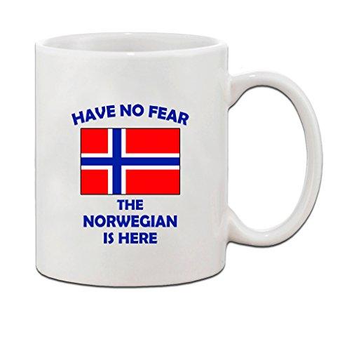 Have No Fear Norwegian Is Here Norway Norwegians Ceramic Coffee Tea Mug Cup - Holiday Christmas Hanukkah Gift for Men & Women