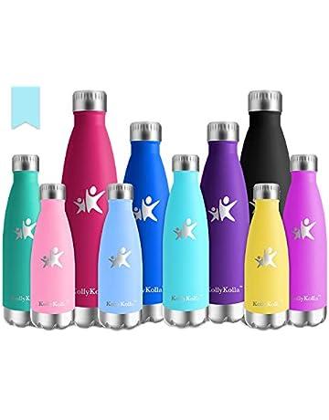 a163f782eb3 KollyKolla Vakuum Isolierte Edelstahl Trinkflasche, BPA Frei Wasserflasche  Auslaufsicher - 350/500/650