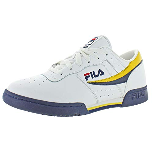 Fila Mens Original Fitness Leather Athleisure Casual Shoes White 11 Medium (D)