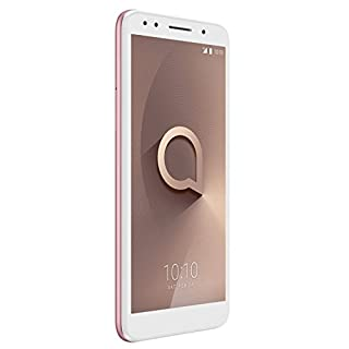 """Alcatel 1X Unlocked Smartphone (AT&T/T-Mobile) - 5.3"""" 18:9 Display, Android Oreo (Go Edition), 8MP Rear Camera, 4G LTE -International Version (Rose)"""