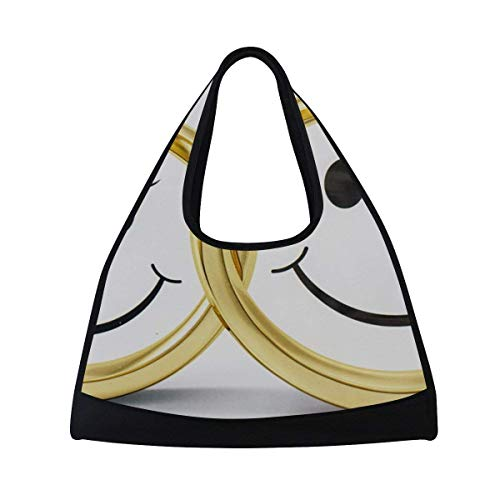 OSBLI Gym Bag Sports Couple Ring Emoticons Travel Shoulder Bag Duffel Bag for Men and Women by OSBLI