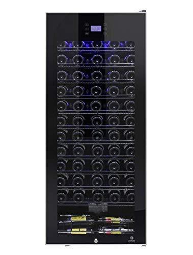 Vinotemp EL-100TSSD 99-Bottle Single-Zone Refrigerator, Wine Cooler, One Size, Black