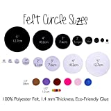 "Purple Adhesive Felt Circles, 1.5"" Wide, Package of"