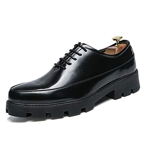 Scarpe verniciata Casual Oxford shoes pelle rialzo Scarpe uomo Nero Pelle Nero Dimensione in Xiaojuan Altezza Spessa EU Business da Color Uomo 38 impermeabile Soletta ZwExXq