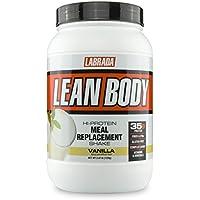 Labrada Nutrition Lean Body Hi-Protein Meal Replacement Shake, Vanilla, 2.47-Pound Tub