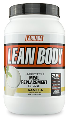 Labrada Nutrition Lean Body Hi-Protein Meal Replacement Shake, Vanilla, 2.47-Pound (Labrada Lean Body Shake)