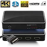 Kelleci HDMI Switch 4 in 1 Out with PIP Function - IR Wireless Remote Control, Hdmi Switcher Supports 4K x 2K, 3D (Metal Case - 401-A)