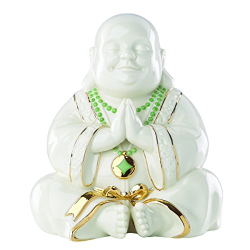 Exclusive Lenox Happy Praying Buddha Statue Figurine -