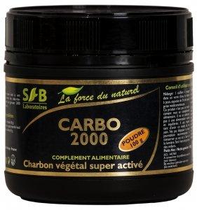 Charbon-vgtal-super-activ-Carbo-2000-pot-de-100g-laboratoires-Sfb