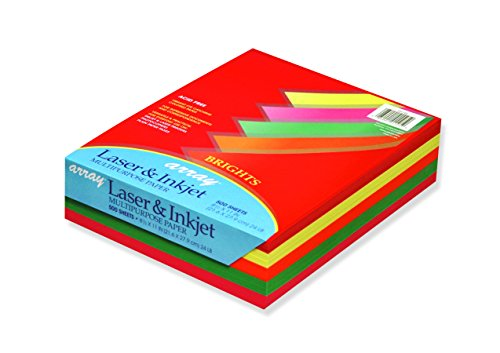 Pacon Assorted Bright Multi-Purpose Paper, 8.5-in. x 11-in., 500 Sheets ()