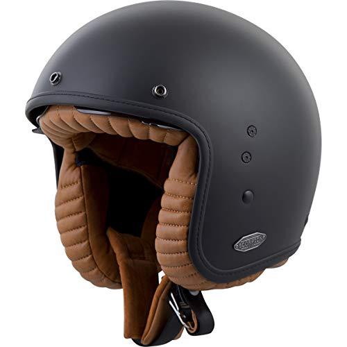 ScorpionExo Belfast 3/4 Open Face Helmet (Matte Black, Large)