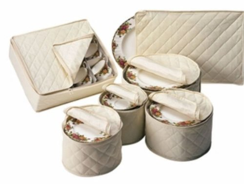 Piece Tabletop Polyester Dinnerware Storage
