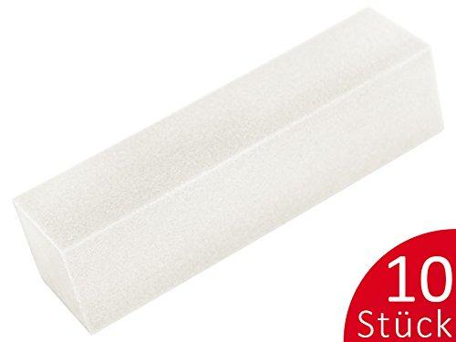 10 x PROFI BUFFER weiß SPAR-PACK SET - Nageldesign Nail-Buffer Buffer-Set für Gelnägel - BESTSELLER nd24