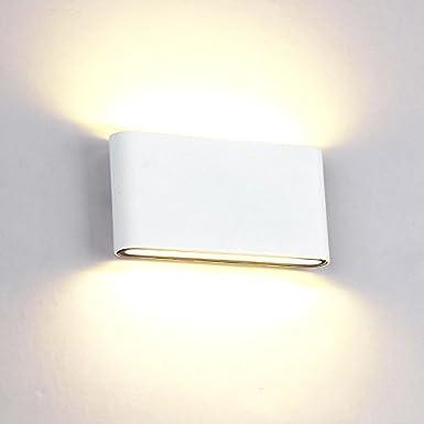LED Wandleuchte außen Wandlampe Wasserdicht IP65 Wandbeleuchtung Warmweiß (12W Schwarz Typ A) Erwei
