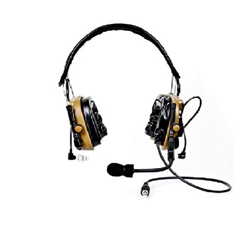 - 3M 88404-00000 Peltor ComTac IV Hybrid Communication Headset Dual Comm Kit, Coyote Brown
