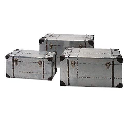 IMAX 74408-3 Brewer Aluminum Trunks, Set of 3