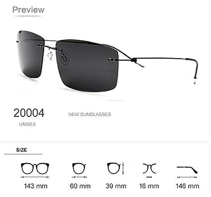 100/% Pure Titanium No Screw Rimless Polarized Sunglasses For Men Women Ultralight