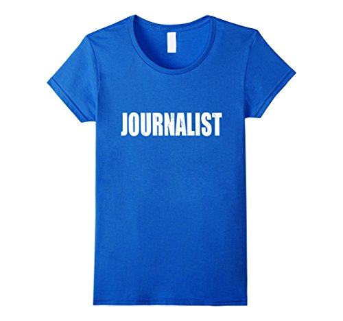 Womens Journalist Halloween Costume Party Cute & Funny T shirt Medium Royal Blue - Female Journalist Costume