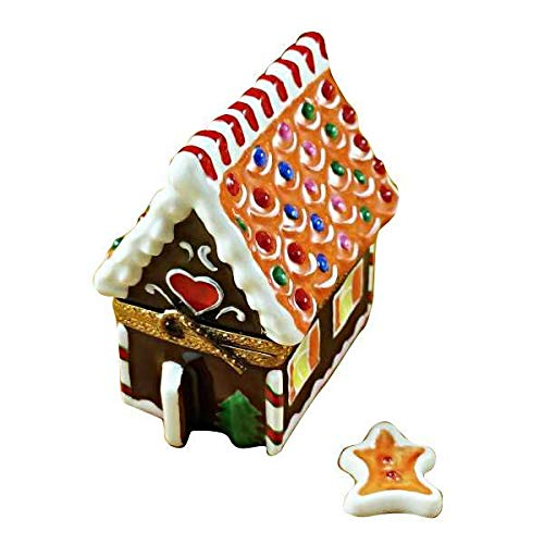 Porcelain Bread Box - Gingerbread House - French Limoges Boxes - Porcelain Figurines Collectible Gifts
